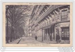 """Cpa  Réf-JP-Y670 ( Dép-75 à PARIS VI Em ) Avenue De L&acute Observatoire """""""""""""""" à Droite à La Porte Du CAFE Un Gardien - Arrondissement: 11"""