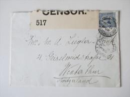 GB 1915 Zensurpost In Die Schweiz. Viele Stempel. Opened By Censor 517. - 1902-1951 (Könige)