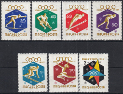Hongarije - Olympische Winterspiele, Squaw Valley/Olymnpische Winterspelen, Squaw Valley- MNH - M 1668A-1674A - Winter 1960: Squaw Valley