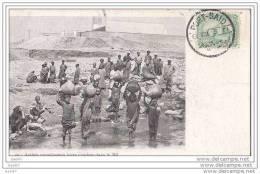 Cpa   Réf-JP-Y879 (  Egypte  à PORT- SAID)    Arabes Remplissants Leurs Cruches Dans Le NIL - Port-Saïd
