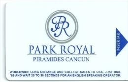 HOTEL PARK ROYAL PIRAMIDES CANCUM MEXICO  llave clef key keycard karte