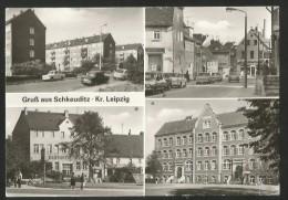SCHKEUDITZ Leipzig Sachsen Leipziger-Strasse Kulturhaus SONNE Lessing-Oberschule Käthe-Kollwitz 1984 - Schkeuditz