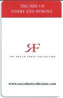 HOTEL ROCCO FORTE COLLECTION ,   EUROPA   llave clef key keycard karte