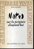 Jean Bazaine Notes Sur La Peinture D'aujourd'hui Editions Du Seuil 1953 Carton Invitation Fondation Maeght - Art