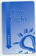 HOTEL , LUZ LIGHT   llave clef key keycard karte