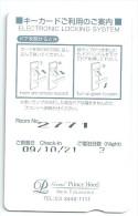 HOTEL GRAND PRINCE NEW TAKANAWA TOKYO JAPAN  llave clef key keycard karte