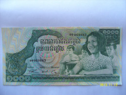 BANCONOTE   CAMBOGIA  1000 RIELS   FIOR DI STAMPA - Cambodia