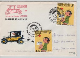 Belgique TP Gaston Lagaffe S/L.courrier Prioritaire Par Voiture Marbais-Mechelen/Malines 1992 PR2233 - Comics