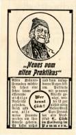 Original-Werbung/ Anzeige 1904 - DER ALTE PRAKTIKUS LÜCK / KOLBERG POMMERN - Ca. 45 X 70 Mm - Werbung
