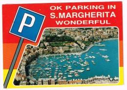 M3459 Parking In Santa Margherita Ligure (Genova) - Humor - Panorama Aereo - Barche Boats Bateaux / Viaggiata 1984 - Humour
