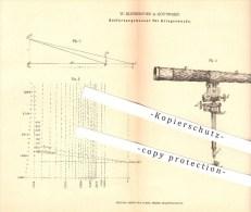 Original Patent - W. Klinkerfues In Göttingen , 1877 , Entfernungsmeser Für Kriegszwecke , Fernrohr , Optik , Krieg ! - Optics
