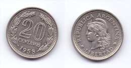 Argentina 20 Centavos 1958 - Argentine
