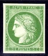N° 2 (Cérès Neuf) Fac-Similé SUPERBE !!! - 1849-1850 Cérès