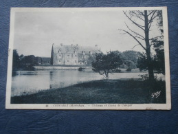 Concoret  Chateau Et Etang De Comper - Ed. Gaby 69 - Circulée 1937 - L208 - Autres Communes