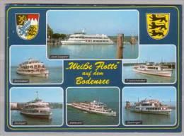 Weiße Flotte Auf Dem Bodensee , Graf Zeppelin - Schwaben - Friedrichshafen - Stuttgart - Karlsruhe - Überlingen - Dampfer