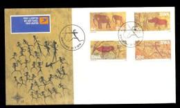 SOUTH AFRICA SWA FDC 1976 * ROCK PAINTINGS * ELEPHANT HUNTER RHINO ANTILOPE - FDC