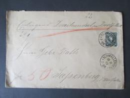 Deutsches Reich Nr. 44 EF. Wertbrief Inneliegend 212 Mark. Zweifach Gesiegelt. Preussen Nachverwendeter K2 Sassenberg - Briefe U. Dokumente