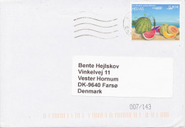 Greece Cover Sent To Denmark 13-6-2014 Single Stamped - Greece
