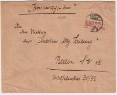 """DR, 1923, """" Zeitz """" Gebühr Bezahlt , #3121 - Briefe U. Dokumente"""