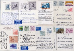 YUGOSLAVIA 1980´s  Six Postcards With Various Definitive And Commemorative Stamps. - 1945-1992 Socialist Federal Republic Of Yugoslavia