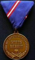 "Always Ready AUSTRIA 2ND REPUBLIC HONOR MEDAL FOR THE REPUBLIC AUSTRIA ""STETS BEREIT""  INSIGNIA MILITARIA - Austria"
