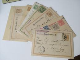 Österreich GA 11 Stk. 1886-1921. Firmenkorrespondenz. Preussen K2 Nachverwendeter Stempel Sassenberg - Entiers Postaux