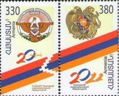 AR 2011-755-6 20A°INDEPENDENCE, ARMENIA, S/S, MNH - Armenien