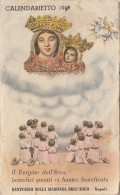 NAPOLI - SANTUARIO DELLA MADONNA DELL´ARCO  - ANNO 1949   /  Piccolo Calendario - Calendriers