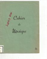 cahier de musique vide  , vendu pour couverture