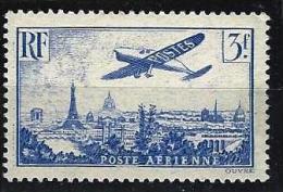 "FR Aerien YT 12 (PA) "" Avion Survolant Paris, 3F00 Outremer "" 1936 Neuf** - 1927-1959 Postfris"