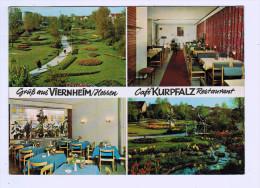 5242  Cpm   VIERNHEIM : Café KURPFALZ  Restaurant J. Hoppe  1968 - Viernheim