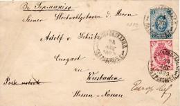 RUSSIE ENTIER POSTAL POUR L'ALLEMAGNE 1889 - Storia Postale