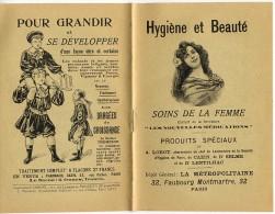 Brochure - Hygiène Et Beauté - Soins De La Femme - Début 1900 - Catalogues