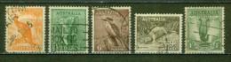 Kangourou, Koala, Kookabura, Ornithorynque, Oiseau Lyre - AUSTRALIE - Animaux, Faune - 1937 - Oblitérés