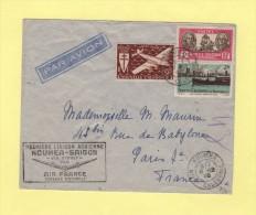 Premiere Liaison Aerienne - Noumea Saigon Via Sydney - Air France - Noumea Nouvelle Caledonie - 8-12-1948 - Postmark Collection (Covers)