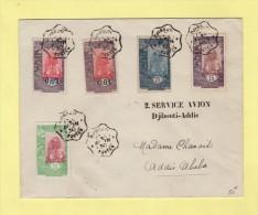2eme Service Aerien - Djibouti Addis Abeba - 17-4-1930 - Cote Des Somalis - Cachet Special - Postmark Collection (Covers)