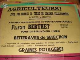 """AFFICHE PONT DE BEAUVOISIN Fran�ois BERTHET """"AGRICULTEURS"""""""
