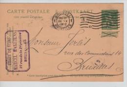 Entier CP 5 C Lion C.méc.Bruxelles + C.Publicitaire Marcel Maertens Tissus De Reims PR2250 - Stamped Stationery