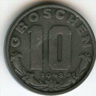 Autriche Austria 10 Groschen 1948 KM 2874 - Austria