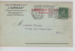 TP 110 S/CP C.méc.Bruxelles 28/1/1914 + Repiquage Publicitaire Artisan Tailleur J.Hupin &Cie BXL PR2252 - Métiers