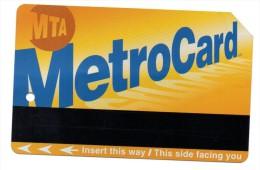 TICKET - METRO - NEW-YORK - MetroCard - 2000 - - Métro