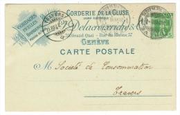 Suisse /Schweiz/Svizzera/Switzerland/ Document / Carte Publicitaire De Genève - Suisse