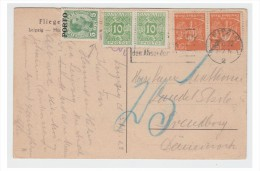 ALLEMAGNE -- CARTE POSTALE A DESTINATION DU DANEMARK -- TAXEE -- LEIPZIG 1922 --- - Briefe U. Dokumente
