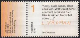 Nederland - Brieven Schrijven – Leo Vroman – Tekstfragment - MNH - NVPH 3317 - Schrijvers