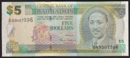 Barbados 5 Dollar 2007 P67a UNC - Barbados