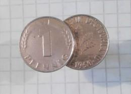 1 PFENNIG 1950 (Germany) Cuff Button, BOUTONS De MANCHETTE, Manschettenknopf, Botón Del Manguito - Cuff Links & Studs