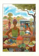 Afrique - Côte D´Ivoire - Femme - Femmes Ivoiriennes - Vendeuse De Fruits - Aquarelle De Jean Roquebrune - état - Côte-d'Ivoire