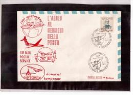 """834   -     SAVONA  3.12.1972    /     MOSTRA FIL.  """" L'AEREO AL SERVIZIO DELLA POSTA """" - Exposiciones Filatélicas"""