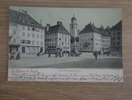CPA SUISSE LA CHAUX DE FONDS PLACE HOTEL DE VILLE - NE Neuchâtel