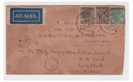 BIRMANIE -- MYANMAR --- LETTRE A DESTINATION DE L´INDE 1939 --- - Myanmar (Burma 1948-...)